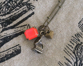Bronze Music Lover Charm Necklace