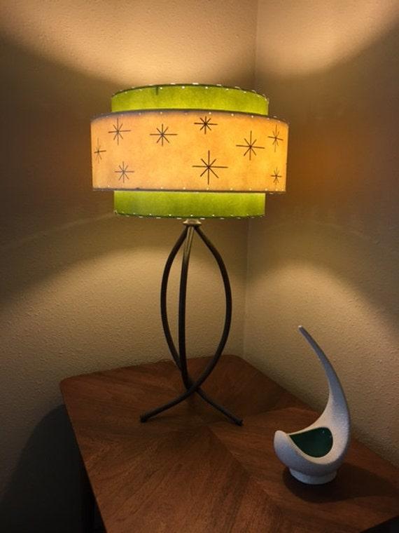 Vintage Mid Century Style 3 Tier Fiberglass Lamp Shade Modern