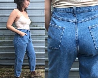 90s Modern Essentials high-waisted mom jeans - size 8