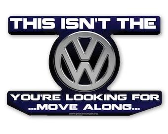 CS320 VW Volkswagen Star Wars Jedi Parody Sticker
