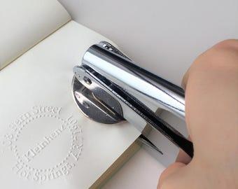 Persoanlized Logo Embosser Stamp, Custom Embossing Stamp, Embossing Seal, Wedding Invitations, wedding