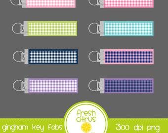 Key Fob Clip Art Gingham