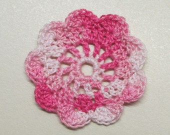 "FLAT Spool Pin Doily (2.0"") - Multi PINKS"