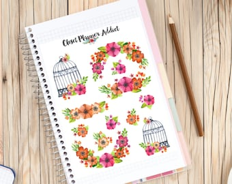 Watercolour Flowers Planner Stickers | Floral Stickers | Wedding Stickers | Watercolour Stickers | Watercolour Flowers (S-025)