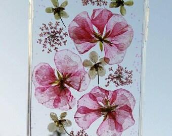 handmade nature pressed flowers iPhone 7 plus/8 plus case