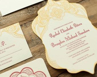 wedding letterpress invitation morocco