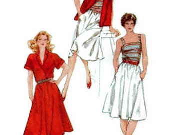 Kimono Sleeve Shirt, Pullover Camisole, Pull-On Bias Skirt, Plus Size 16-18-20 Bust 38-40-42, Simplicity 5089 UNCUT Vintage Sewing Pattern