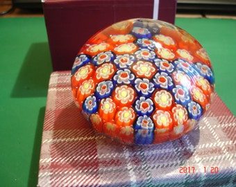 Large Murano Millefiori 1960's Vintage Paperweight.