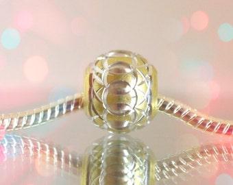 European Aluminum 12mm Bead for Glass Bead Bracelet