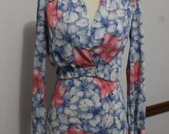 60's/70's Vintage Maxi Halter Dress with Jacket