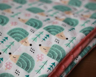 Hedgehogs Weighted Therapy Blanket- all sizes and weight available