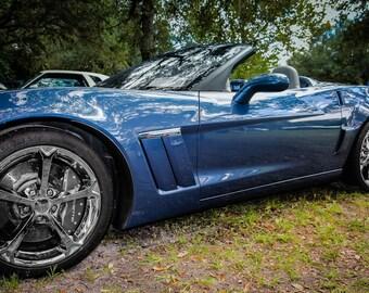 2011 Chevrolet Corvette Car Photography, Automotive, Auto Dealer, Muscle, Sports Car, Mechanic, Boys Room, Garage, Dealership Art