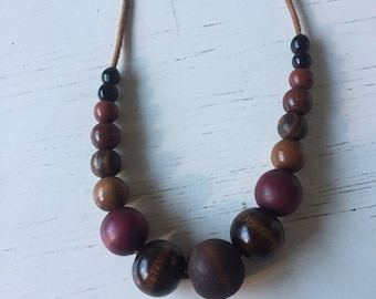 Vintage/beaded/necklace/boho/modern/wooden/trend/wooden/beads/cool/simple/natural