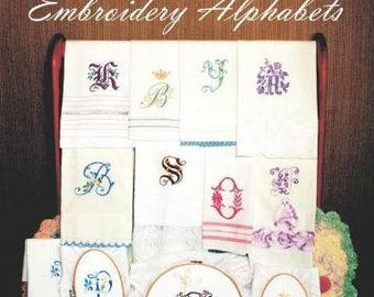 One Hundred Thirty Antique French Embroidery Alphabets