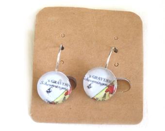 World map earrings - Netherlands variations