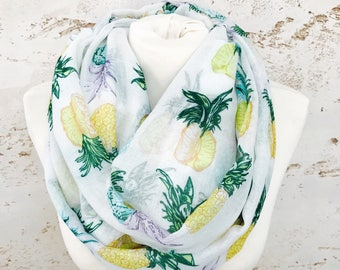 Infinity Scarf, Cowl Scarf, Chunky Scarves, Pineapple Gift, Scarf, Winter Scarf, Womens Scarves, Chunky Infinity Scarf, Scarves, Pineapple