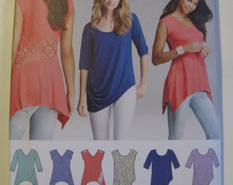 Simplicity Sewing Pattern 1198A Easy To Sew Misses' Knit Tops Size XXS-XXL New and Uncut Pattern