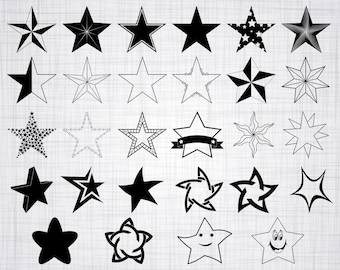 Star SVG Bundle, Stars SVG, Star Clipart, Star Cut Files For Silhouette, Files for Cricut, Star Vector, Stars Svg, Dxf, Png, Eps, Decal