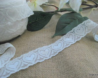white lace with hearts for shabby chic deco