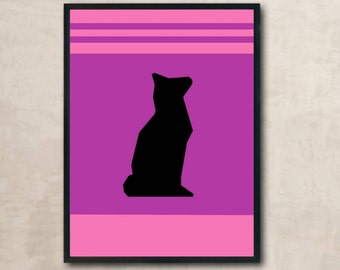 Personalized cat poster