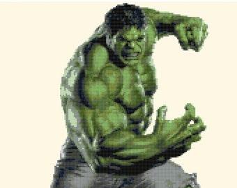 "Hulk Counted Cross Stitch Marvel Pattern point de croix embroidery needlework korss hulk cross stitch -12.00"" x 16.86""- L1294"