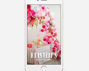 Trendy Customizable Snapchat Geofilter Personalized Custom Geo Filter Customized Wedding Graduation Birthday Bridal Baby Shower Party