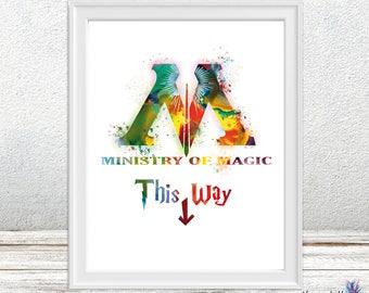 Ministry of magic Harry Potter - Hogwarts art - Ministry of magic - colorful art