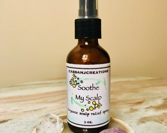Dry / Itchy / Irritated Scalp Relief - Dandruff Treatment - Scalp Soother - Essential Oils - Organic - Soothe My Scalp - Blue Tansy