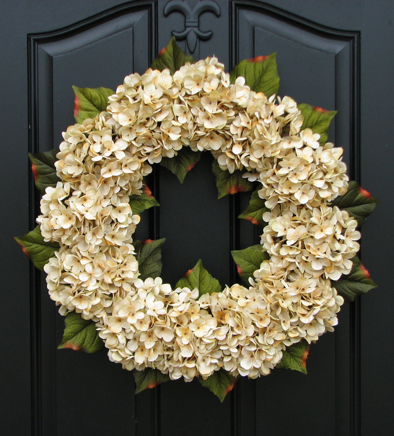 front wreath pin hydrangea door wreaths for yellow everyday