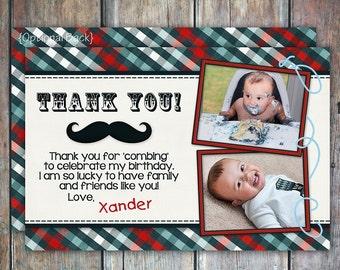 Little Man Mustache Thank You Card