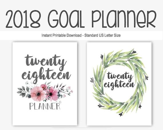 2018 Goal Planner Journal: Goal Setting New Year Resolution