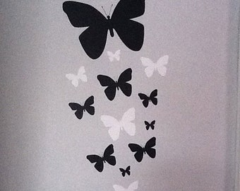 Black & White Butterfly Decals