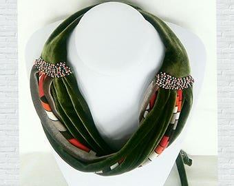 Hand made, multifunctional, velvet accessory (Africa)