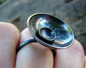 Sterling Silver Satellite Ring #054