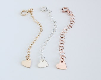 Adjust your Necklace or Bracelet in Length / Necklaces and Bracelets Extender / Removable extender, Silver,Gold & Rose Gold