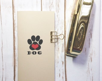 Dog Health Tracker- several sizes available, Traveler's Notebook Insert, Midori, Pet health notebook, pet health planner