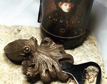 Kraken Bottle Opener, Bronze Finish