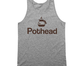 Pot Head Coffee Funny Office Humor Cafe Tank Top DT0787