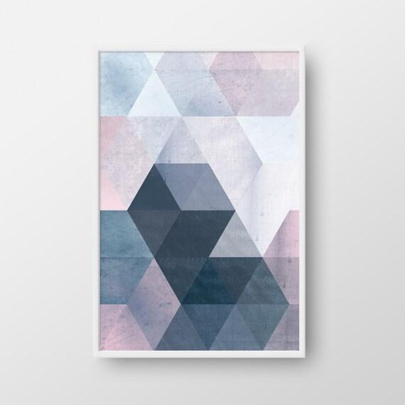 printable geometric poster scandinavian print nordic poster. Black Bedroom Furniture Sets. Home Design Ideas