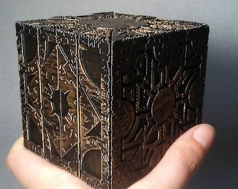 Weathered Hellraiser Puzzle Box Prop Replica Lament and Star Configuration Fan Art Cosplay Accessories Custom
