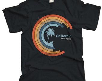 Cali Circle Wave tee-Santa Monica Beach