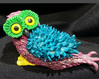 Owlfins Fantasy Owls Collectibles Sculpture #1 Frill