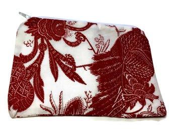 Reusable Snack Bag Zipper Red White