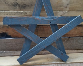 Pallet Wood Star, Reclaimed Wood Star, Primitive Wood Star, Wood Star, Star Decoration