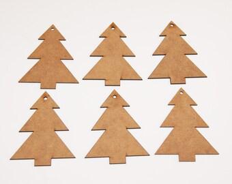 Christmas Tree Hanging Decorations Laser Cut 90mm