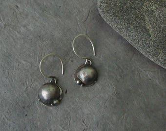 Silver Dome earrings. Sterling silver earrings.