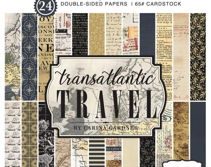 Carta Bella TRANSATLANTIC TRAVEL 6x6 Scrapbook Paper Pad
