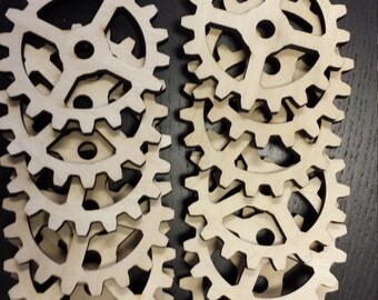 Wooden Gears for Steampunk