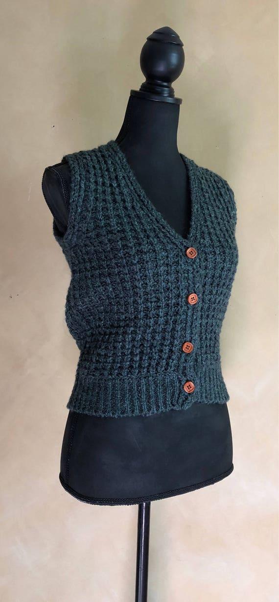 Vintage 90's Green Sweater Vest