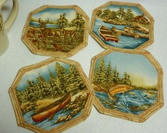 Wilderness coasters, Fishing, boats, cabin, deer